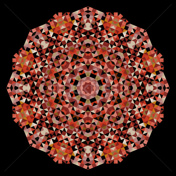 Abstract Flower Creative Colorful Style Vector Wheel Brown Red
