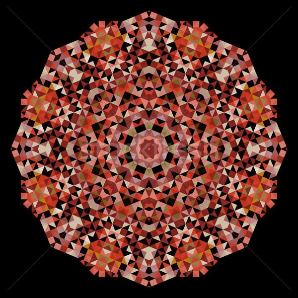 Absztrakt virág kreatív színes stílus vektor Stock fotó © ESSL