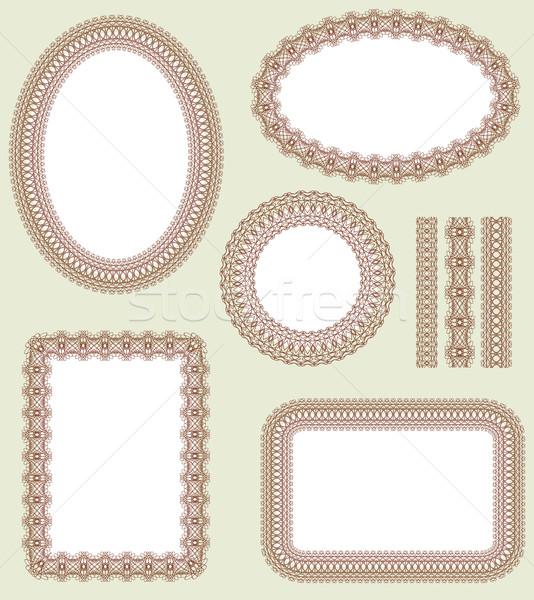 Frame set. Decorative vector elements Stock photo © ESSL
