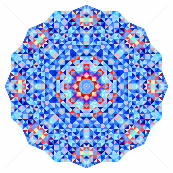 Abstract colorful circle backdrop. Geometric vector mandala. Mosaic banner of geometric shapes. Stock photo © ESSL