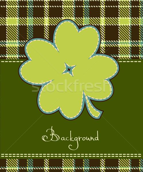 Four leaf clover textile label  Stock photo © ESSL