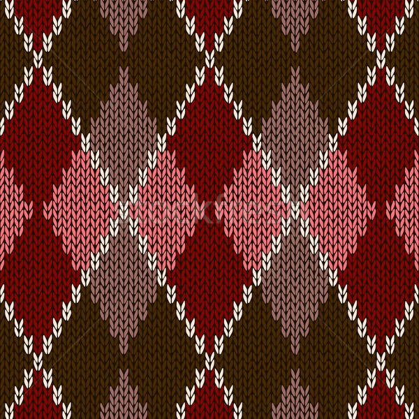 Style Seamless Pink Brown Red Color Knitted Pattern Stock photo © ESSL