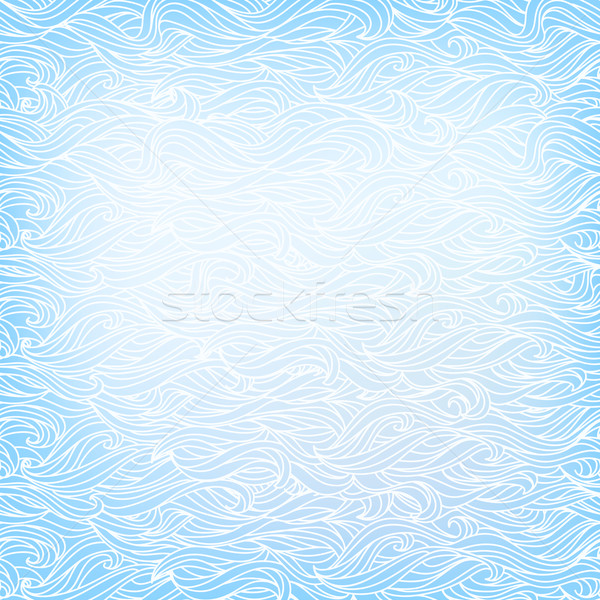 Seamless Abstract Vector Light Blue White Color Hand-drawn Patte Stock photo © ESSL
