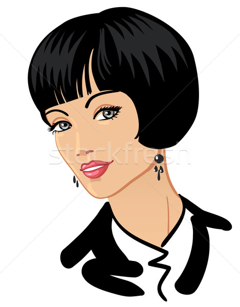 Businesswoman with beautiful haircut and smile Stock photo © ESSL