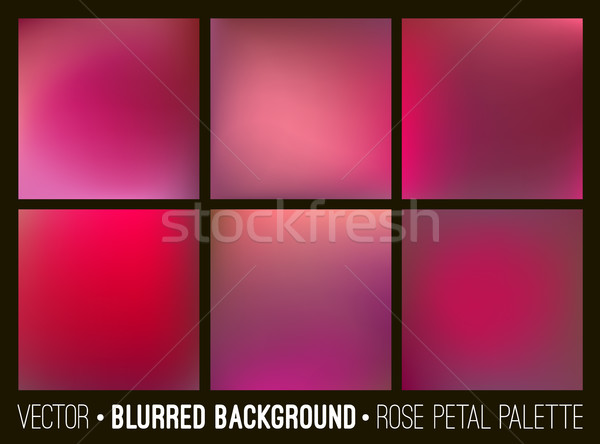 Red abstract blurred background set. Rose petal palette. Smooth design elements collection love conc Stock photo © ESSL