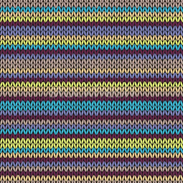 ストックフォト: シームレス · 編まれた · パターン · 部族 · テンプレート