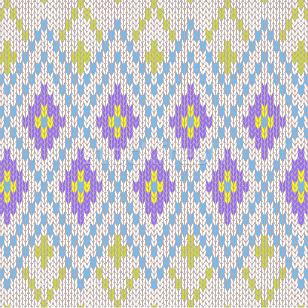 Seamless Pattern. Knit Ornament Texture Stock photo © ESSL
