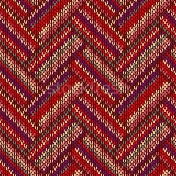 Naadloos gebreid patroon stijl kleur mode Stockfoto © ESSL