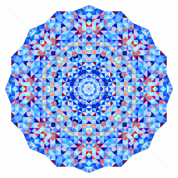 Abstract colorful circle backdrop. Mosaic round banner of blue v Stock photo © ESSL
