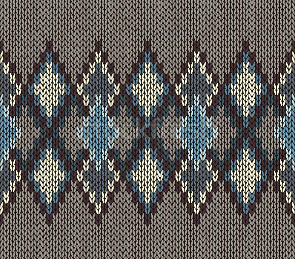 örgü model mavi beyaz kahverengi Stok fotoğraf © ESSL