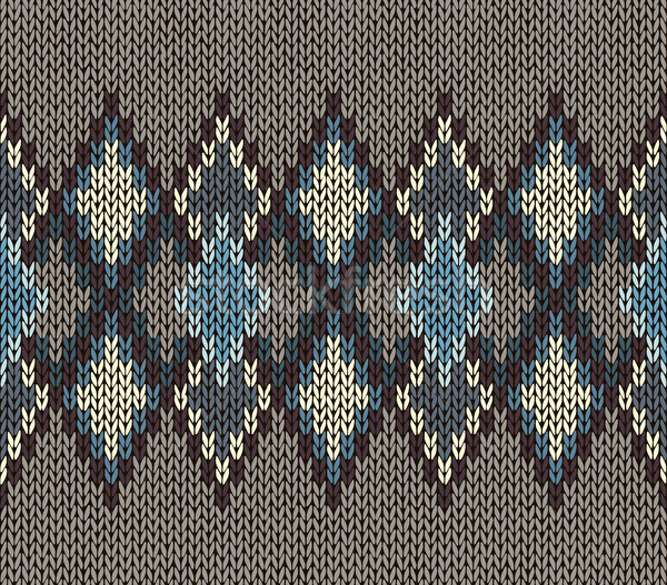 Tricoté modèle bleu blanche brun Photo stock © ESSL