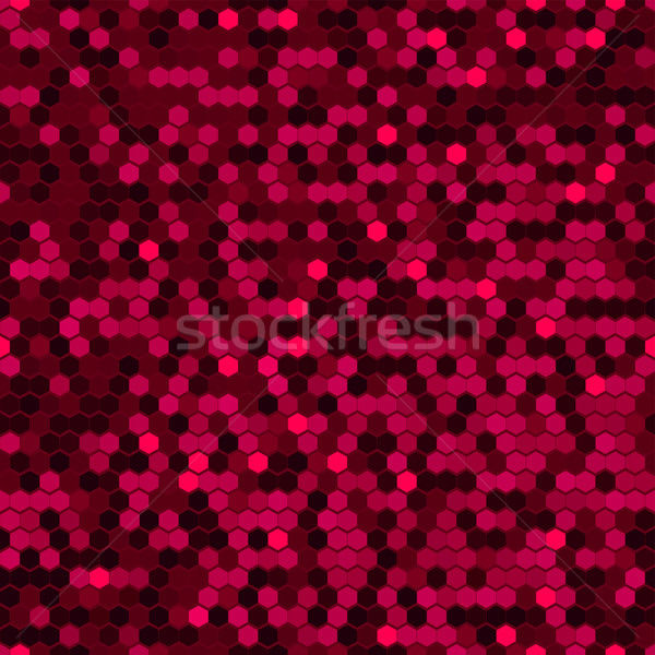 Red Hexagon Background. Abstract Geometric Seamless Pattern Stock photo © ESSL