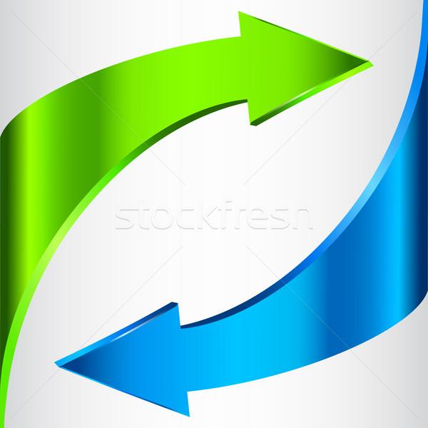 Signe bleu vert couleur isolé Photo stock © ESSL