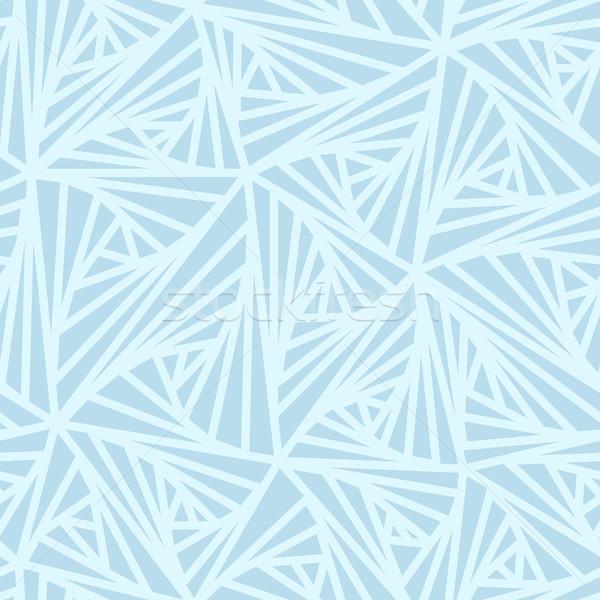 Abstrakten Geometrischen Hellblau Vektor Muster