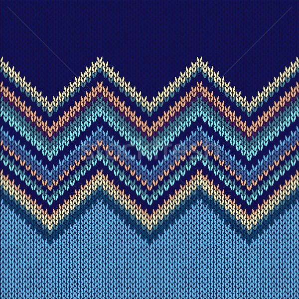 Tricotado sem costura tecido padrão moda abstrato Foto stock © ESSL