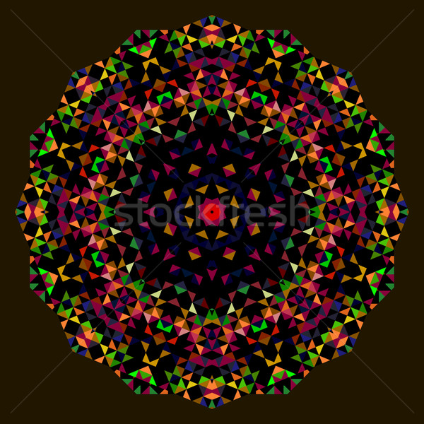 Abstract Flower. Creative Colorful style vector wheel. Red Green Stock photo © ESSL
