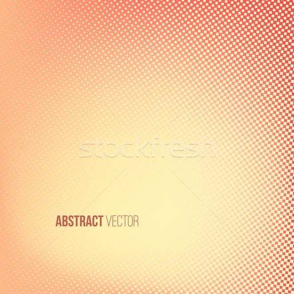 ハーフトーン 赤 黄色 色 広場 ストックフォト © ESSL