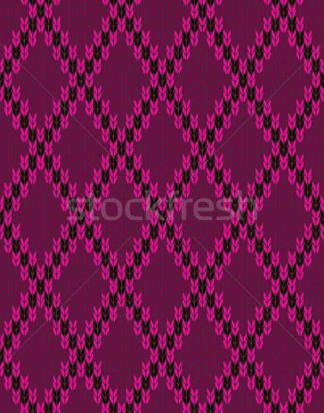 Style Knit woolen seamless jacquard ornament texture. Fabric Pin Stock photo © ESSL