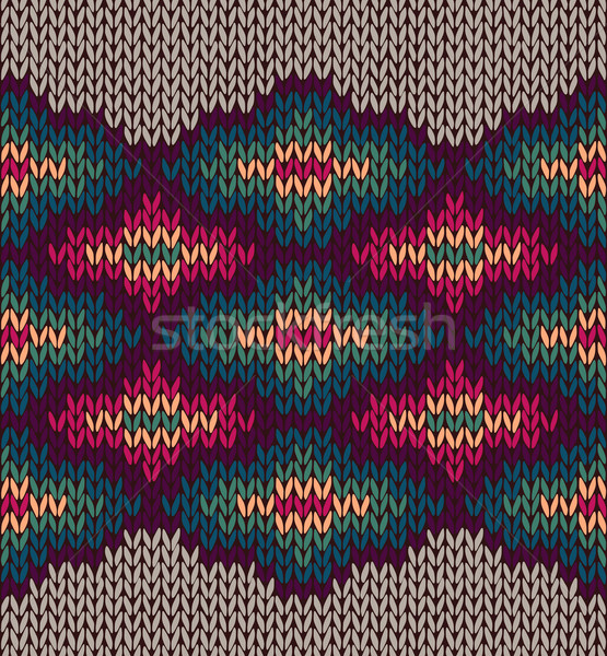 Knit Woolen Seamless Etnic Ornament Texture. Fabric Color Tracer Stock photo © ESSL
