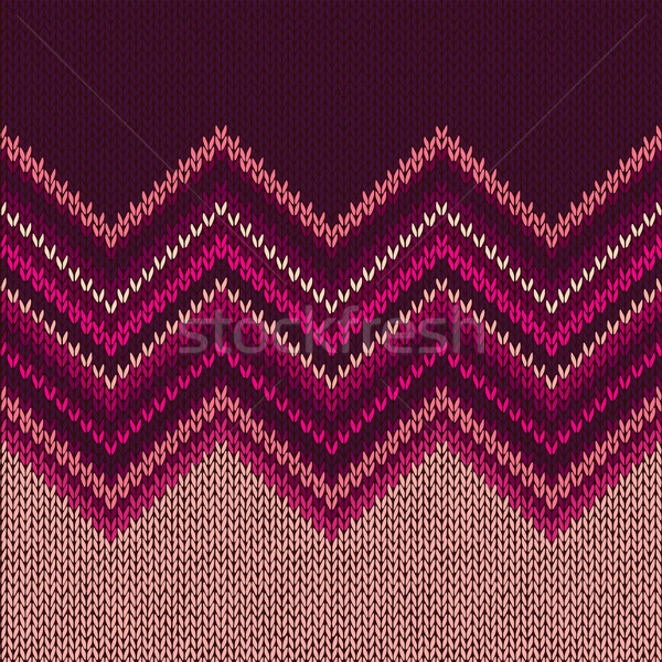 Knitted Seamless Fabric Pattern, Beautiful  Red Pink Knit Textur Stock photo © ESSL