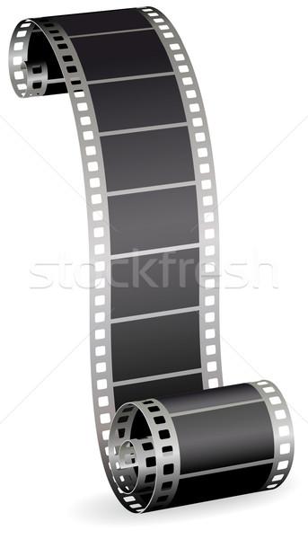 Filmstrip rollen foto video witte abstract Stockfoto © ESSL