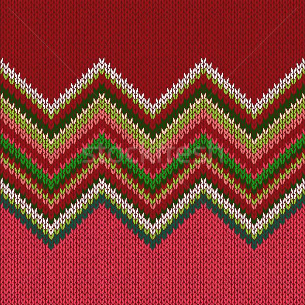 Knitted Seamless Fabric Pattern Stock photo © ESSL