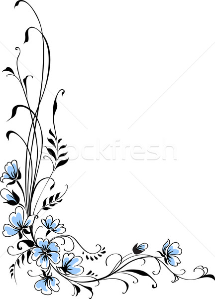 Floral background blue flower vector Stock photo © ESSL