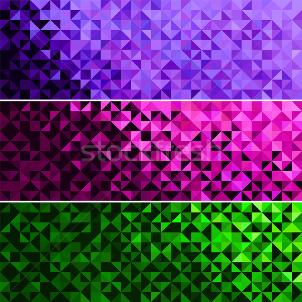 Abstract Light Brilliant Fun Holiday Banner Pattern Stock photo © ESSL