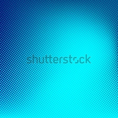 Blue cyan vector halftone background. Creative illustration. Stock photo © ESSL