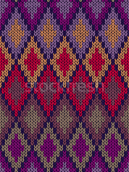 Style Seamless Color Knitted Ornament Pattern Stock photo © ESSL