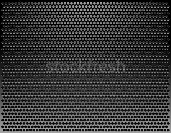 Perforated Metal Template. Translucent Grid Background. Vector I Stock photo © ESSL