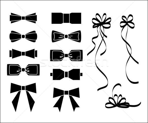 Arco conjunto preto e branco silhueta moda aniversário Foto stock © ESSL