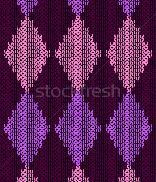 Style seamless pink color knitted pattern Stock photo © ESSL