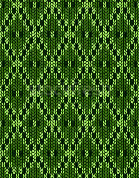 Knit woolen seamless jacquard ornament texture Stock photo © ESSL