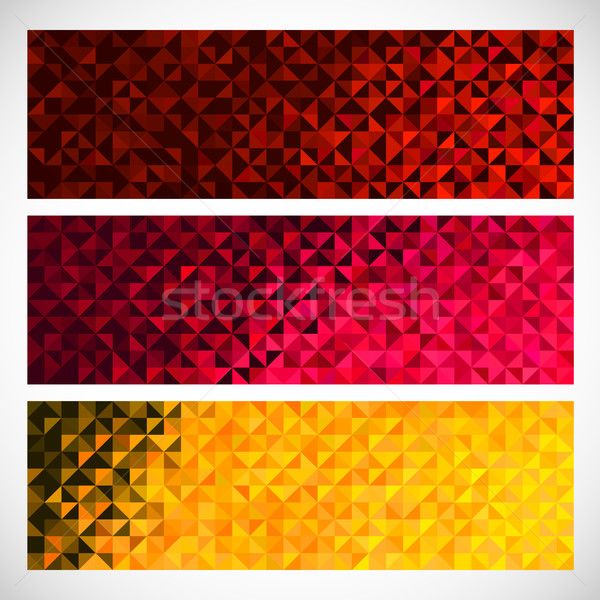 Colorful Pixel Background. Vector Set of Abstract Mosaic banners. Stock photo © ESSL