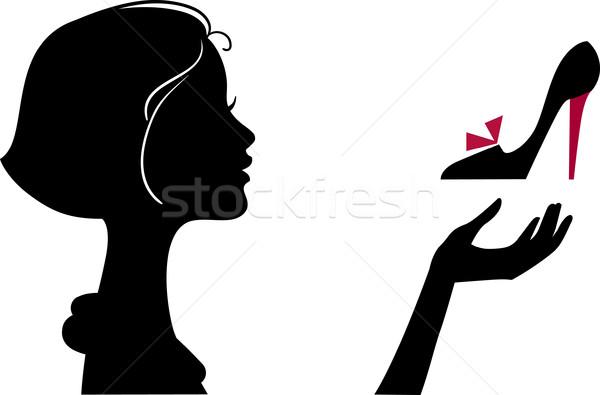 Güzel zarif moda kız ayakkabı kadın Stok fotoğraf © ESSL