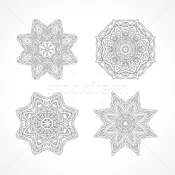 Mandala étnico decorativo elementos indiano islão Foto stock © ESSL