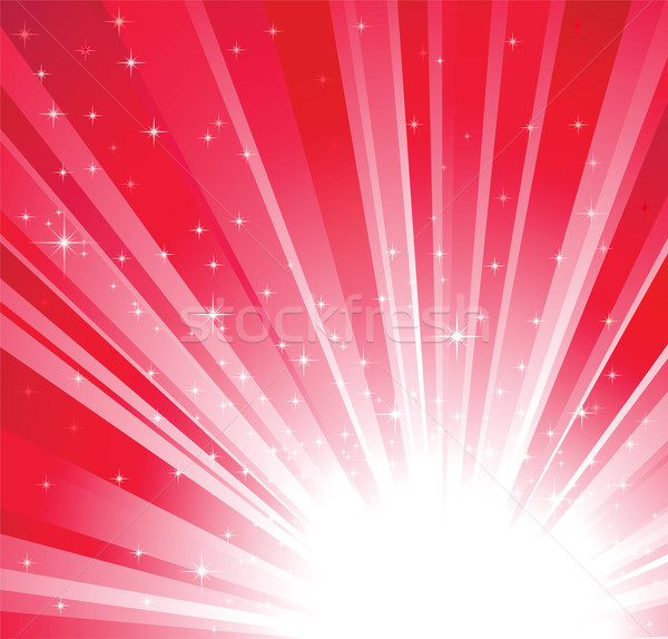 Red christmas, holidays background with light and stars Stock photo © ESSL