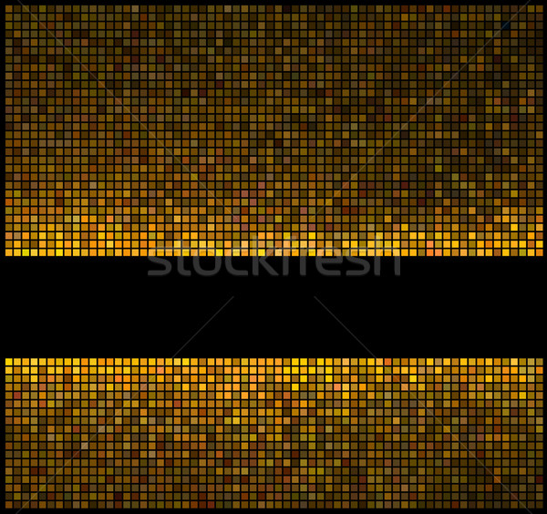 Multicolor abstract lights gold disco background. Square pixel m Stock photo © ESSL