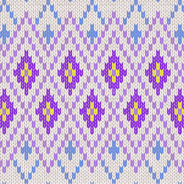 Seamless Pattern. Knit Woolen Trendy Ornament Texture. Fabric Co Stock photo © ESSL