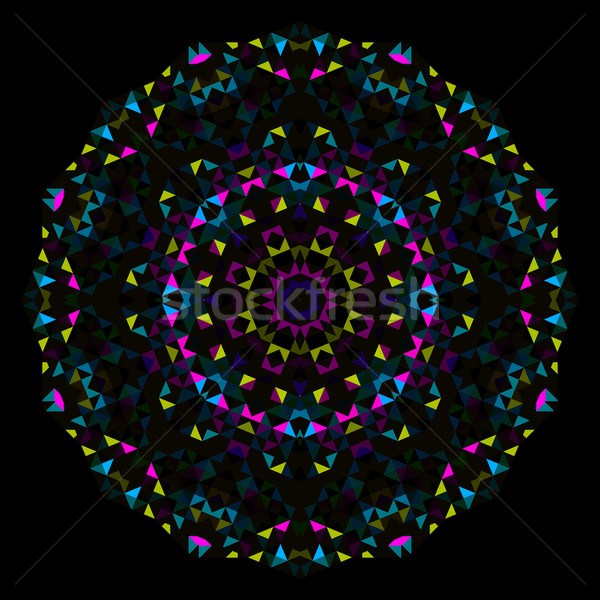 Abstract Flower. Creative Colorful style vector wheel. Cyan Emer Stock photo © ESSL