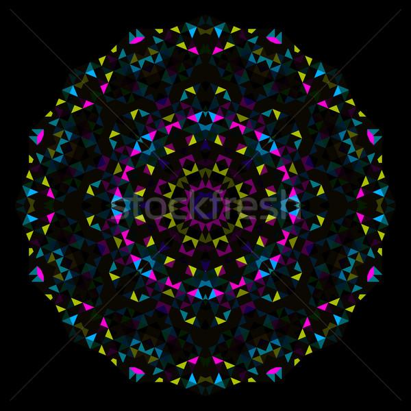 аннотация цветок Creative красочный стиль вектора Сток-фото © ESSL
