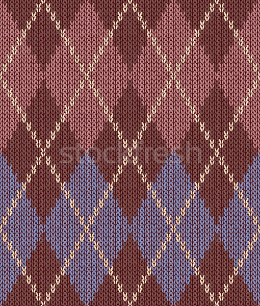 Style Seamless Pink Brown Blue Color Knitted Pattern Stock photo © ESSL