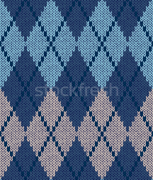 Stock photo: Style Seamless Blue Beige Turquoise Color Male Knitted Pattern