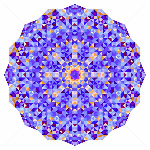 Digitális mozaik kör kreatív színes stílus Stock fotó © ESSL