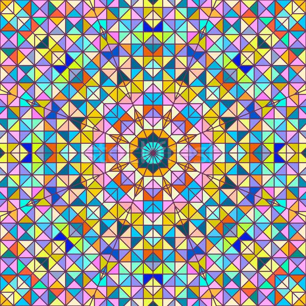 Abstrato vetor geométrico colorido negócio teia Foto stock © ESSL