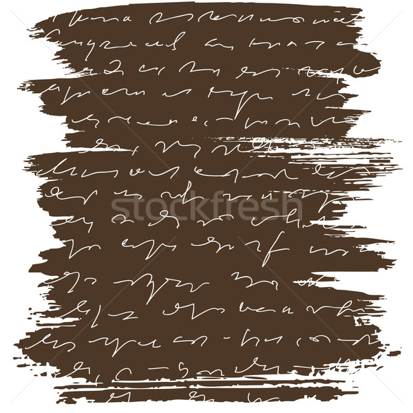 brush letter with abstract text on brown background Stock photo © ESSL
