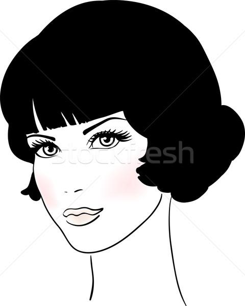 Belo bonitinho menina cara mulher olhos Foto stock © ESSL
