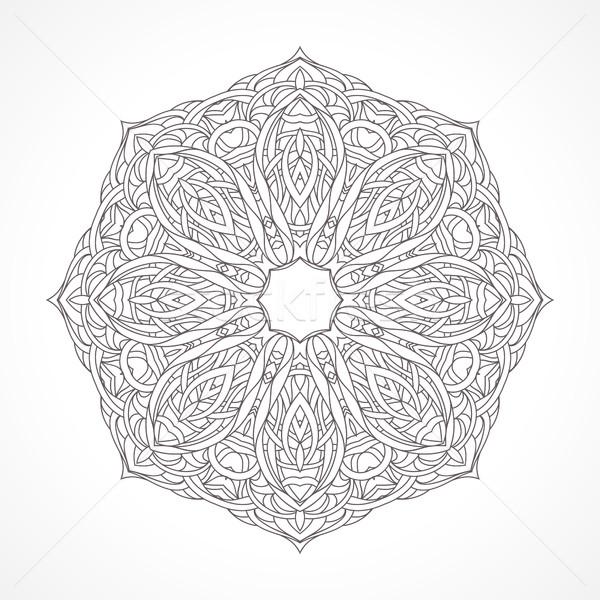 Mandala etnik dekoratif elemanları Hint İslamiyet Stok fotoğraf © ESSL