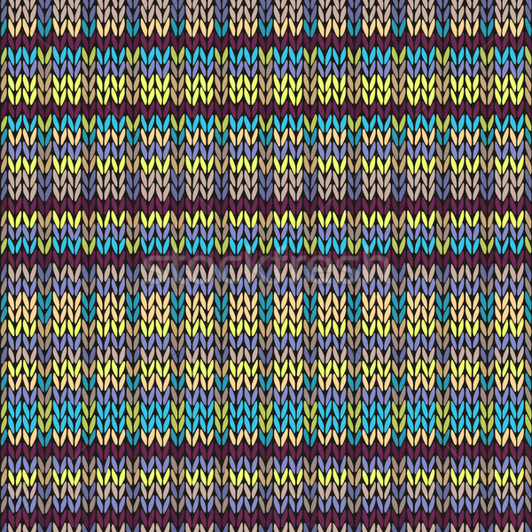 Foto d'archivio: Senza · soluzione · di · continuità · maglia · pattern · multicolore · modello